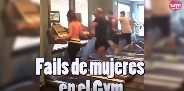 Video: Fails de mujeres en el gym