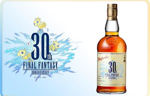 Final Fantasy celebra 30 años con un whisky
