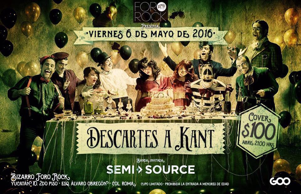 Descartes a Kant se presenta mañana en Bizzarro Bar