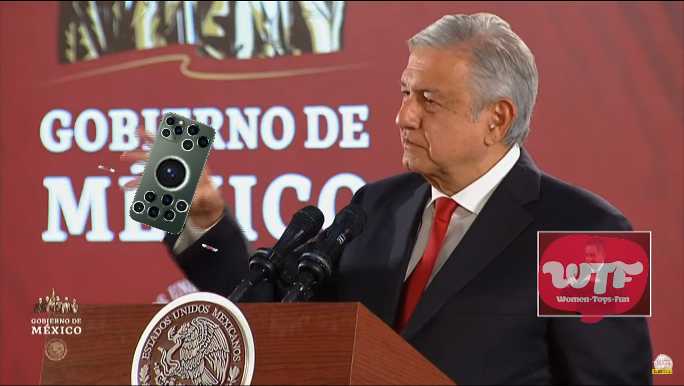 AMLO inventa el iPhone 21